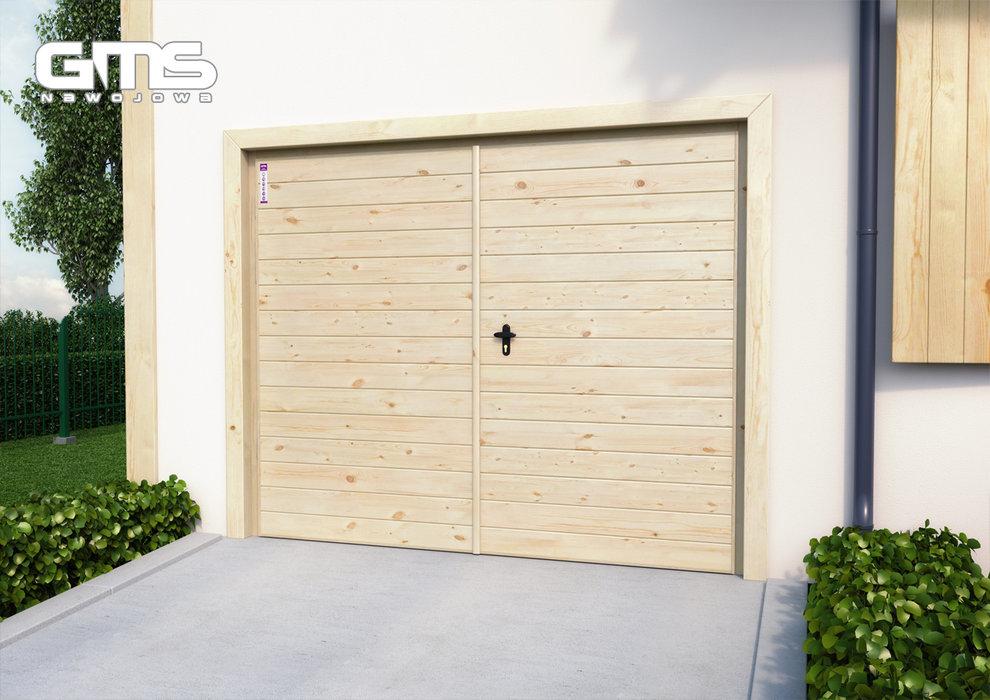 Bardzo dobryFantastyczny Stalowo-drewniane bramy garażowe od GMS Nawojowa - Oknonet.pl AZ98
