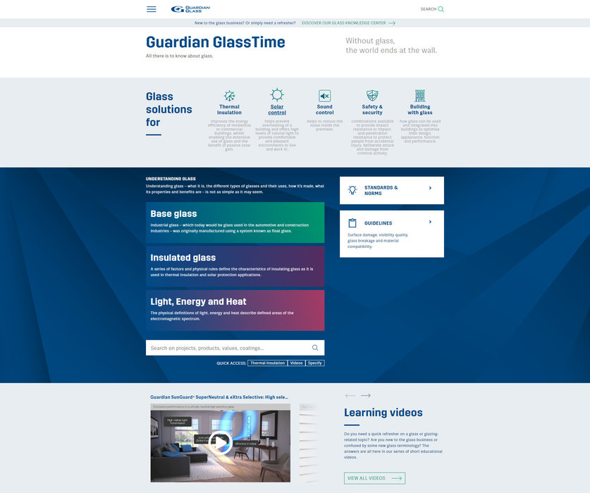 Guardian Glass launches digital version of its GlassTime handbook