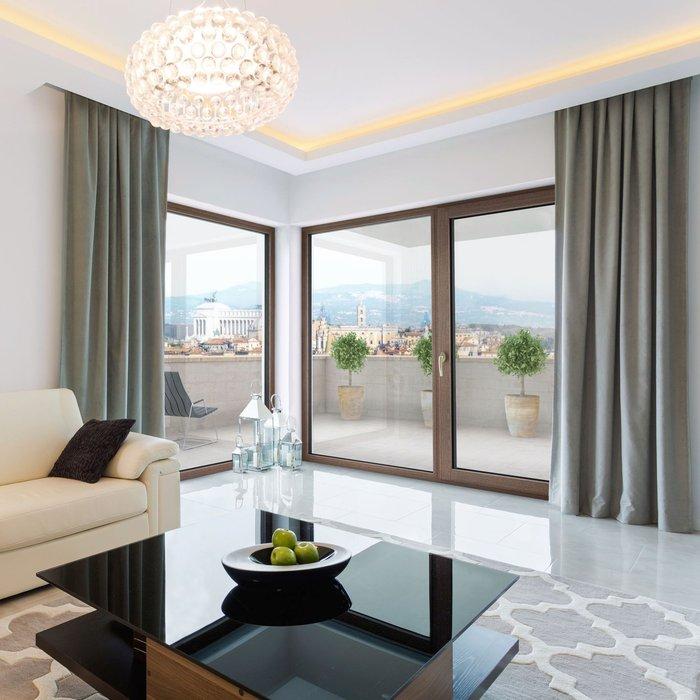 internorm hf 410 okno o drewnianym rdzeniu. Black Bedroom Furniture Sets. Home Design Ideas