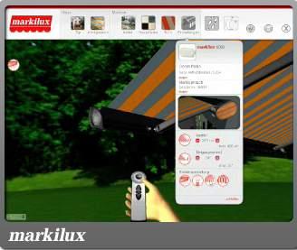 konfigurator markiz od markilux. Black Bedroom Furniture Sets. Home Design Ideas