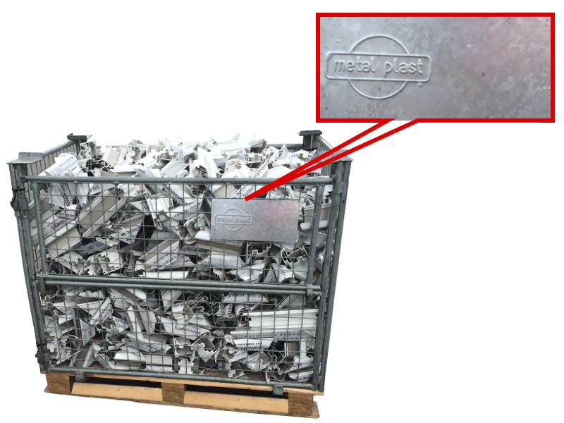 Oryginalne kosze na odpady PVC Metal-Plast