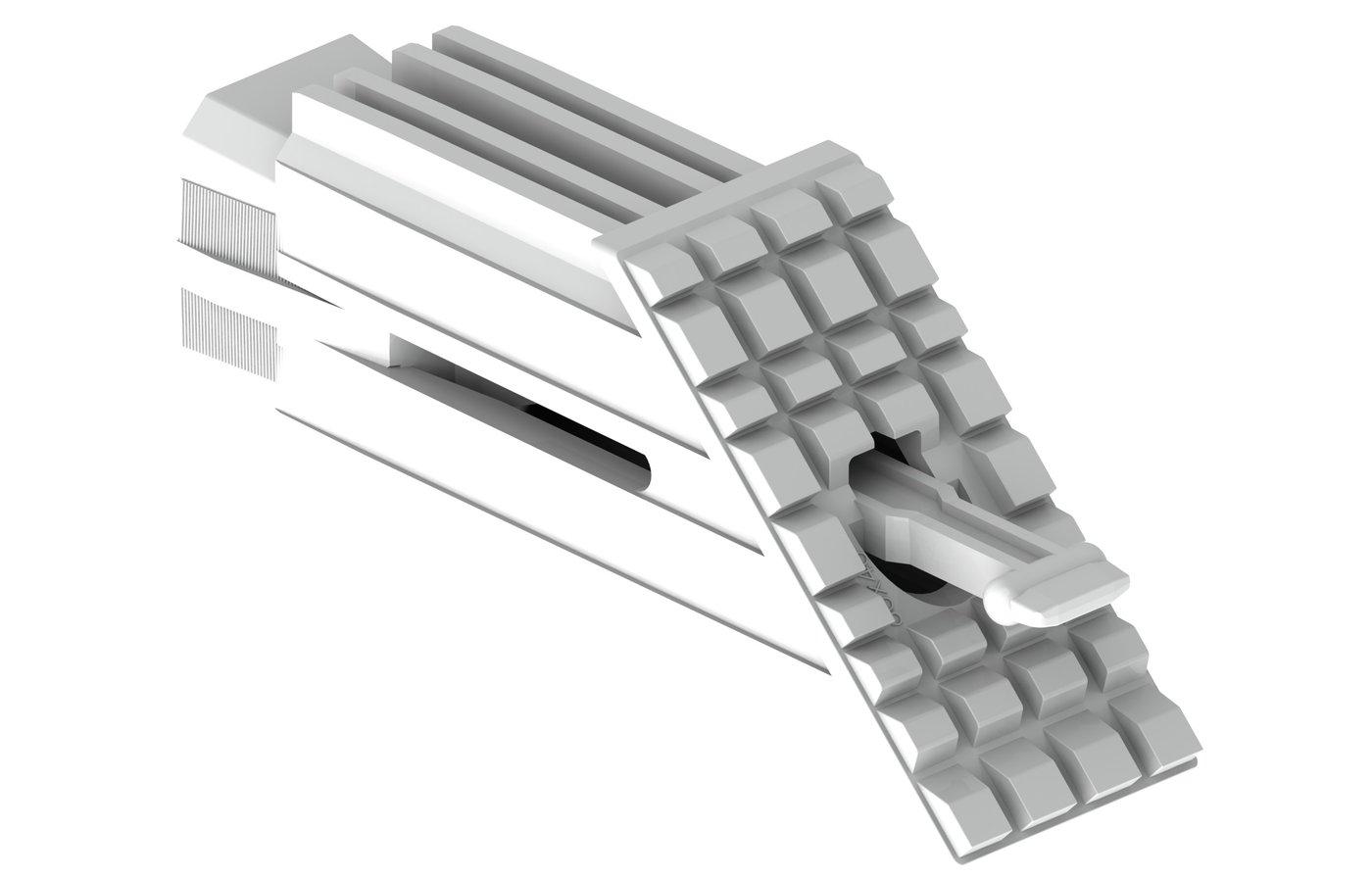 Elementy dostarczane są w gotowych do montażu kompletach kość+klin