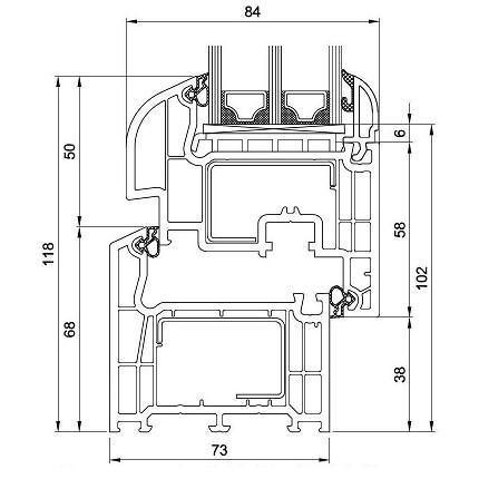 Okna rysunek techniczny