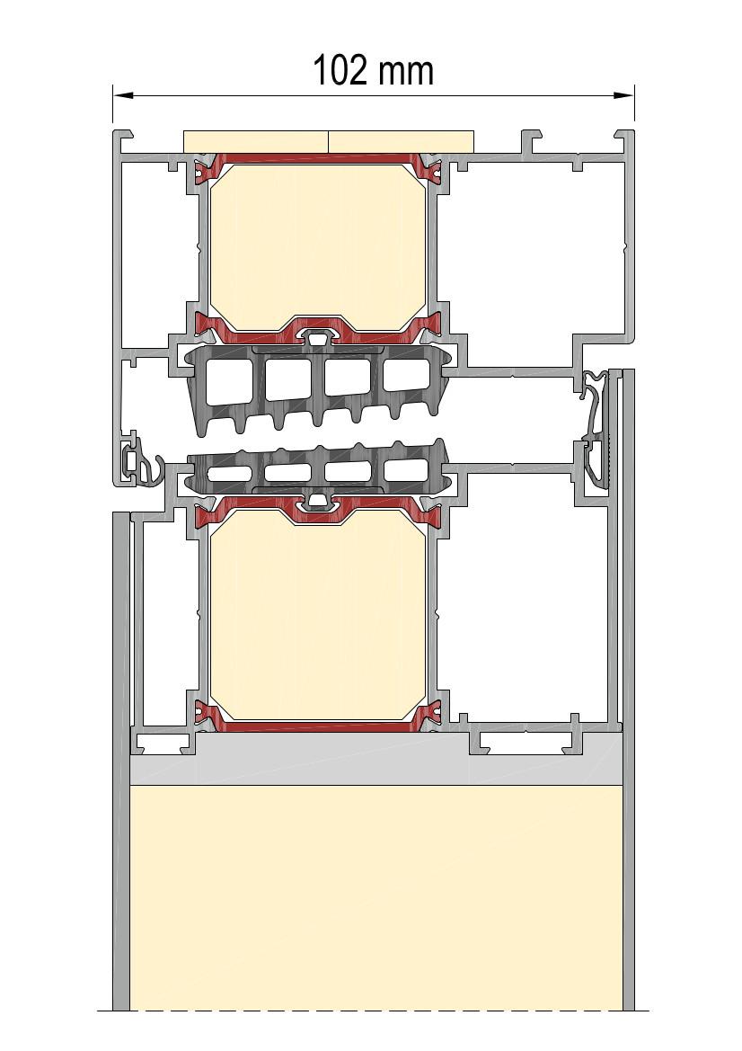 Drzwi z panelem dwustronnie licowanym z centralną uszczelką z EPDM